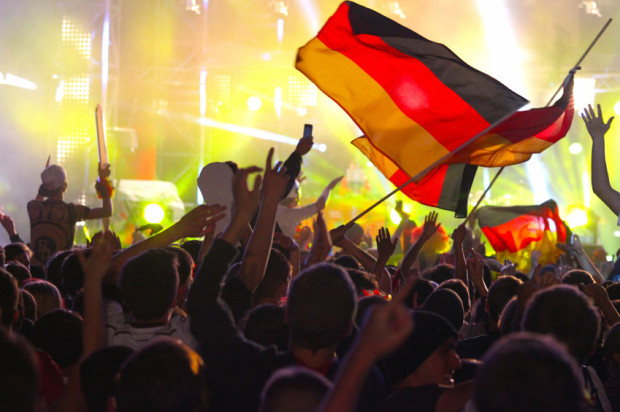 THAT WINNING FEELING: German fans celebrate in the streets of Berlin after the country's fourth World Cup trophy, and the first since the reunification of East and West Germany. (Photo: istockphoto)