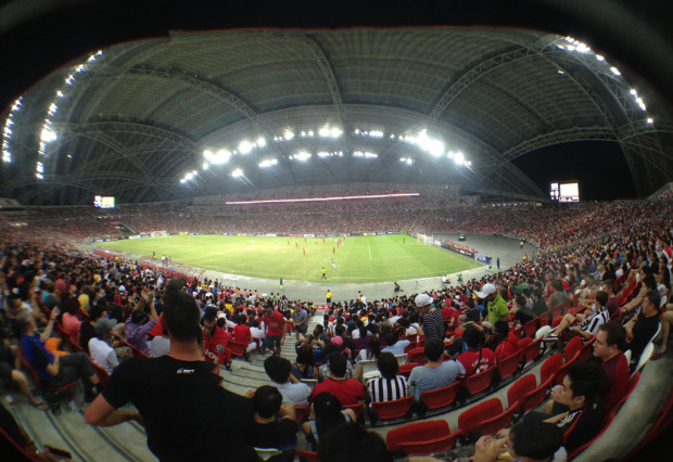 State-of-the-art: The new stadium perfectly captures the essence of a footballing stadium: great atmosphere, perfect scenery and quality players. (PHOTO: Shanjayan Muniappan)