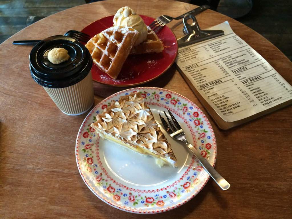 DESSERT TREATS: Little Wimbly Lu sells the famed waffles from