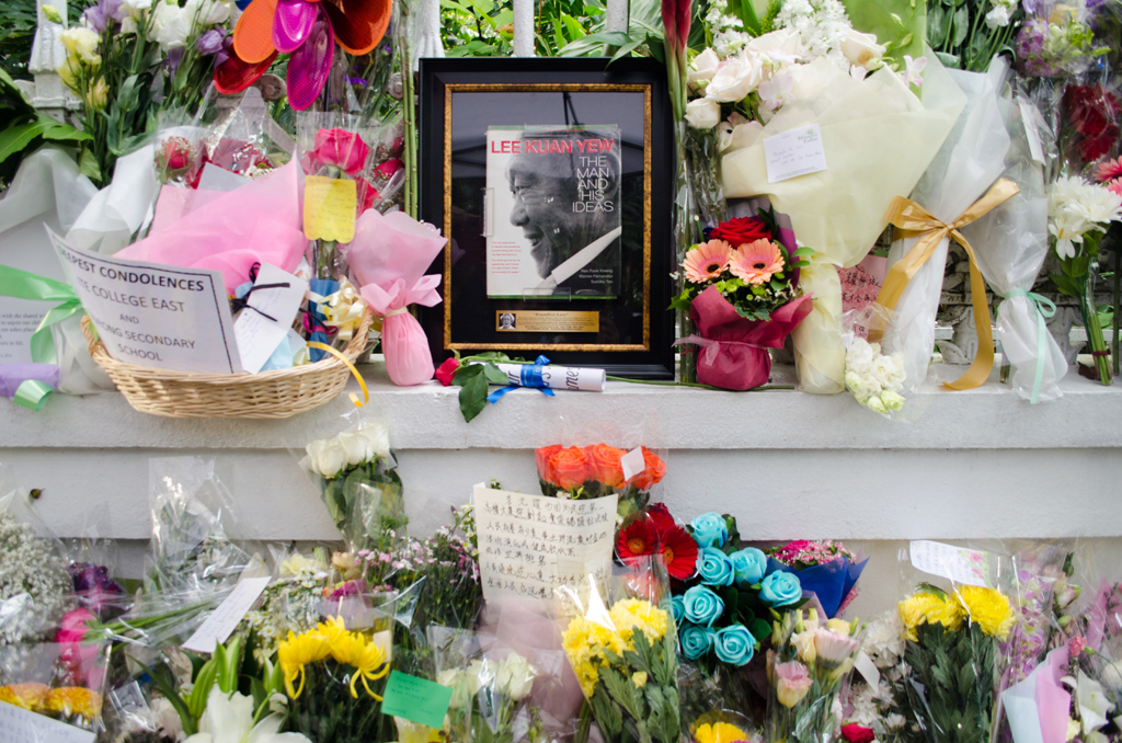IN SO MANY WAYS: Singaporeans gathered at various tribute centres around the island to pay respects to the former Prime Minister, Mr Lee Kuan Yew. They brought flowers, boards, drawings, some personal item and their memories. (Photo: Marcus Tan)