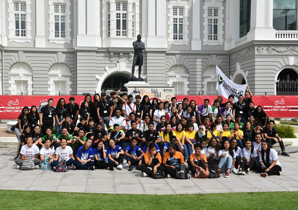 CALM BEFORE THE STORM: 60 secondary school students from the North and West Zones of Singapore competed in a hospitality race for the ultimate prize of cash or vouchers worth $800, medals and certificates. (Photo: Maisha Samiha)
